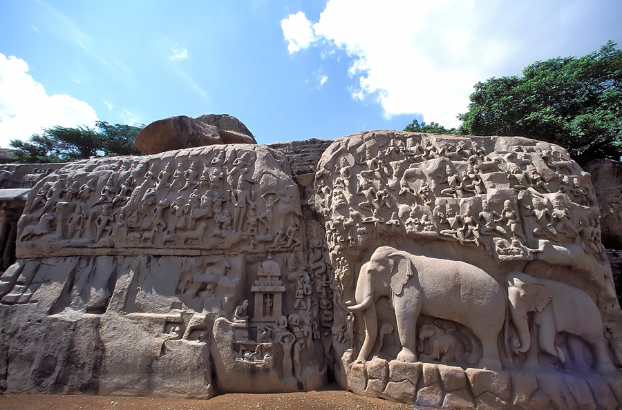 Mamallapuram, an ancient group of sanctuaries along the Coromandel Coast designated as a UNESCO World Heritage Site in 1984, is a tourist site that works well with the tour's artisan theme.