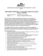 Archaeology and Referral Coordinator_page 1