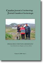Canadian Journal of Archaeology Volume 44, Issue 1/Journal canadien d'archéologie volume 44, numéro 1