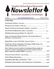 CAA Newsletter 2012 Volume 30 Issue 1