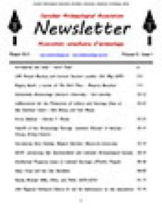 CAA Newsletter 2013 Volume 31 • Issue 2