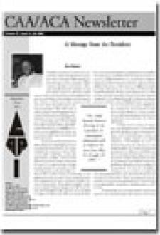 CAA Newsletter Volume 21 Issue 2