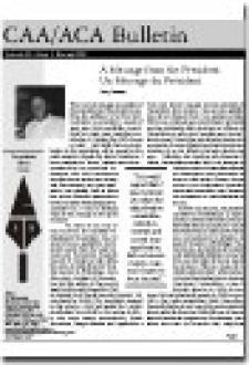 CAA Newsletter Volume 22 Issue 1