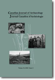 Journal canadien d'archéologie volume 30, numéro 2