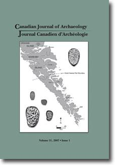 Journal canadien d'archéologie volume 31, numéro 1