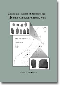 Journal canadien d'archéologie volume 31, numéro 2