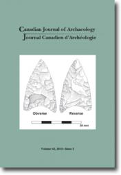 Canadian Journal of Archaeology Volume 42, Issue 2 / Journal canadien d'archéologie volume 42, numéro 2