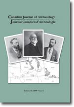 Journal canadien d'archéologie volume 33, numéro 1