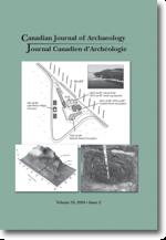 Journal canadien d'archéologie volume 33, numéro 2